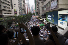 Street Protests in Hong Kong Stock Photo