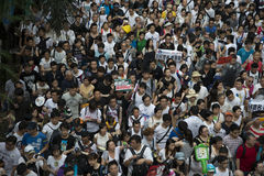 Street Protests in Hong Kong Stock Image