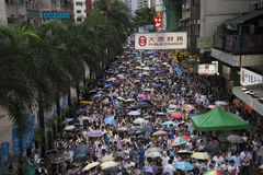 Street Protests in Hong Kong Royalty Free Stock Photos