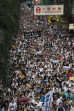 Street Protests in Hong Kong Stock Photography