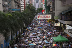 Street Protests in Hong Kong Royalty Free Stock Photo