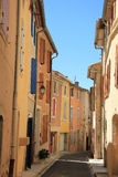 Street in the Provence. Colored houses in the village of Bedoin, France Royalty Free Stock Photo