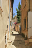 Street in the Provence. Street view of the Village of Bedoin, France Stock Photo