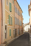 Street in the Provence. Street view of the Village of Bedoin, France Royalty Free Stock Photo