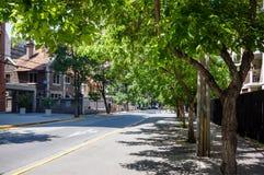 Street of Providencia commune in Santiago, Chile Stock Photos