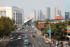 Street in Pudong, Shanghai Stock Photos