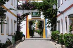 Street in Puerto de Mogan Stock Images