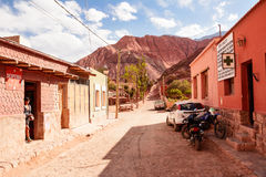 Street in Purmamarca Argentina Royalty Free Stock Photography