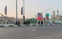 Street in Qom, Iran stock image
