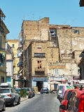 Street of quartiere Mercato neighborhood in Naples, Campania, Italy. Royalty Free Stock Photos
