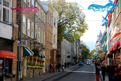 Street in Quebec City, Canada Stock Photos