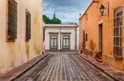 Street of Queretaro, Mexico. Queretaro is one of the main tourist destinations for people traveling to Mexico royalty free stock images