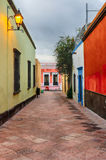 Street in Queretaro, Mexico. Queretaro is one of the most famous tourist destinations for people traveling to Mexico stock photo