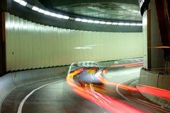 Street racing car blurred Stock Image