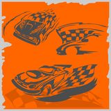 Street Racing Cars Royalty Free Stock Images