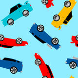 Street racing cars in a seamless pattern Royalty Free Stock Photo