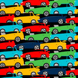 Street racing cars stacked in a seamless pattern Royalty Free Stock Photos