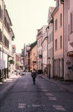Street in Radolfzell stock photography