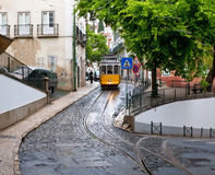 The street with rails Stock Image