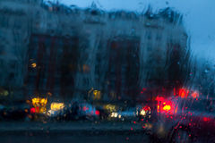 Street in the rain Royalty Free Stock Images