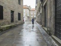 Street and rain Stock Photography