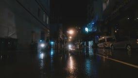 Street after rain stock footage