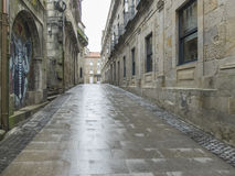 Street and rain Royalty Free Stock Images
