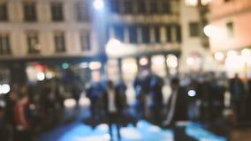 Street rap concert rap battle stock footage