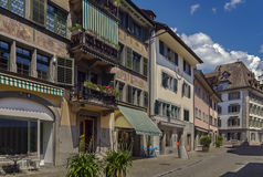 Street in Rapperswil, Switzerland Stock Images