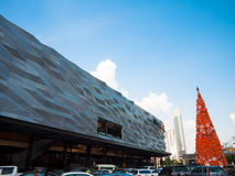 The Street Ratchada. On December 26, 2015 in Bangkok, Thailand. The Street Ratchada is a modern department store and blue sky background, Modern facade, blue Royalty Free Stock Photo