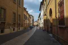 A street in Ravenna center, Italy royalty free stock photos