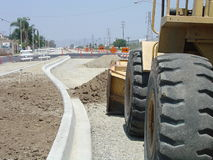Street reconstruction. Work, City of Industry, California Stock Photography