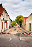 Street reconstruction. Street repair and reconstruction of water supply Stock Photo