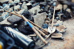Street repair tools Stock Images