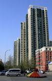 Street of the residential area. Street view of the residential area of the south of Beijing Stock Image