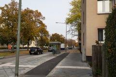 Street from residential block. Frankfurt am main Royalty Free Stock Photos