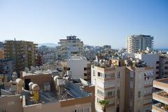 Street of residential district, Alaniya, Turkey Royalty Free Stock Photo