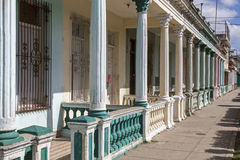 Street with residential homes on Cuba Stock Photos