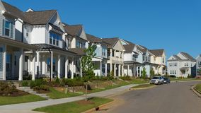 Street of residential homes Stock Photography