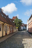 Street with residentual buildings, Simrishamn Royalty Free Stock Images