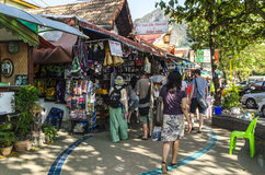 Street resort town of Ao Nang. Stock Photography