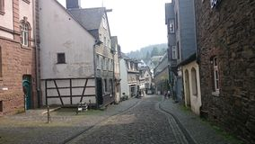 A street in resort town of Monschau Royalty Free Stock Images