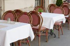 Street restaurant Stock Images