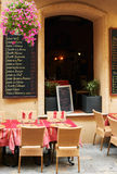 Street restaurant in French Provence. Little street restaurant in Aix en Provnece town , South France Stock Photography