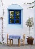 Street restaurant in Greece Stock Photos