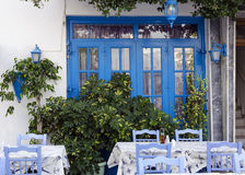 Street restaurant in Greece Stock Photography