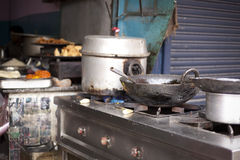 A street restaurant in India Royalty Free Stock Photos