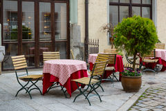 Street restaurant in the old town Royalty Free Stock Images
