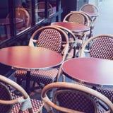 Street restaurant in Paris, France Royalty Free Stock Photos
