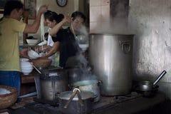 Street restaurant sells famous Pho Bo soup stock photo